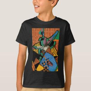 Violin and Checkerboard T-Shirt