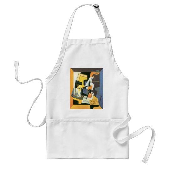 Violin and Glass by Juan Gris, Vintage Cubism Adult Apron