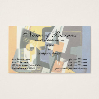Violin and Glass by Juan Gris, Vintage Cubism Business Card