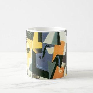 Violin and Glass by Juan Gris, Vintage Cubism Coffee Mug