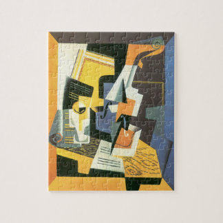 Violin and Glass by Juan Gris, Vintage Cubism Jigsaw Puzzle