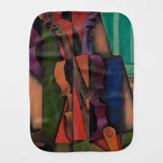 Violin and Guitar by Juan Gris Baby Burp Cloth