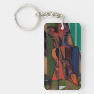 Violin and Guitar by Juan Gris Keychain