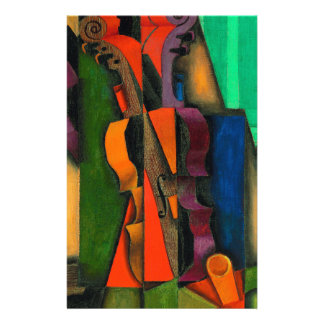 Violin and Guitar by Juan Gris Stationery