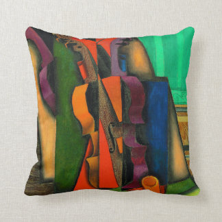 Violin and Guitar by Juan Gris Throw Pillow