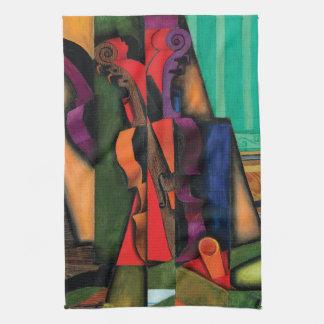 Violin and Guitar by Juan Gris Towel