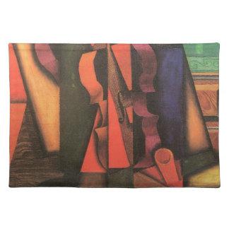 Violin And Guitar By Juan Gris, Vintage Cubism Art Cloth Placemat