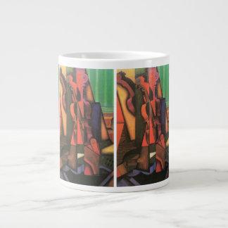 Violin and Guitar by Juan Gris, Vintage Cubism Art Giant Coffee Mug