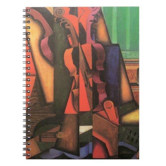 Violin and Guitar by Juan Gris, Vintage Cubism Art Notebook