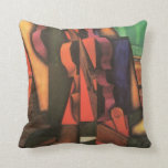 Violin and Guitar by Juan Gris, Vintage Cubism Art Throw Pillow