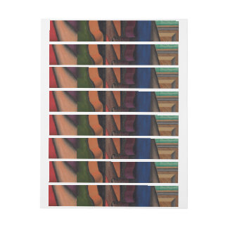 Violin and Guitar by Juan Gris Wrap Around Address Label