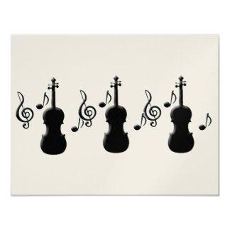 Violin and Music Notes Custom Invitation