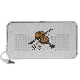 VIOLIN AND MUSIC iPod SPEAKERS