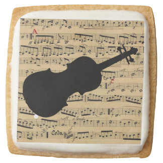 Violin and Musical Notes Sugar Cookie