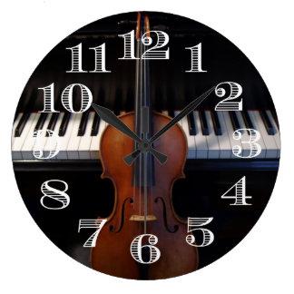Violin and Piano Clock Design