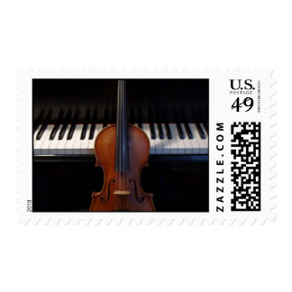 Violin and Piano Keyboard Postage