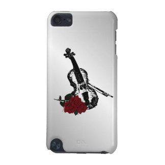 Violin and Roses Silver iPod Touch (5th Generation) Cover
