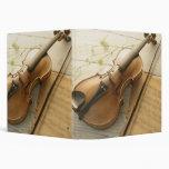 Violin and Sheet Music 3 Ring Binders