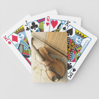 Violin and Sheet Music Bicycle Playing Cards