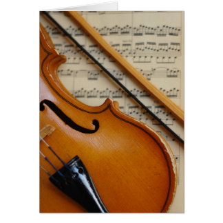 Violin and Sheet Music Stationery Note Card