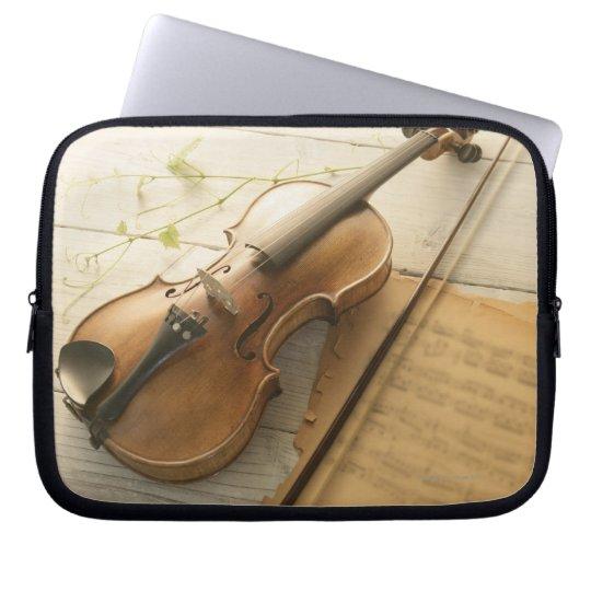Violin and Sheet Music Computer Sleeve
