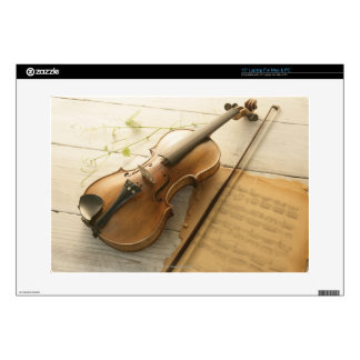 Violin and Sheet Music Decal For Laptop