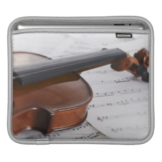 Violin and sheet music sleeves for iPads