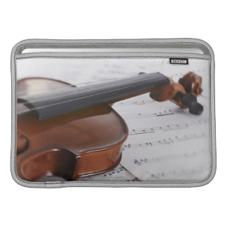 Violin and sheet music sleeve for MacBook air