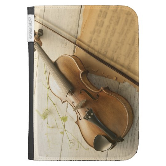 Violin and Sheet Music Kindle Keyboard Cases