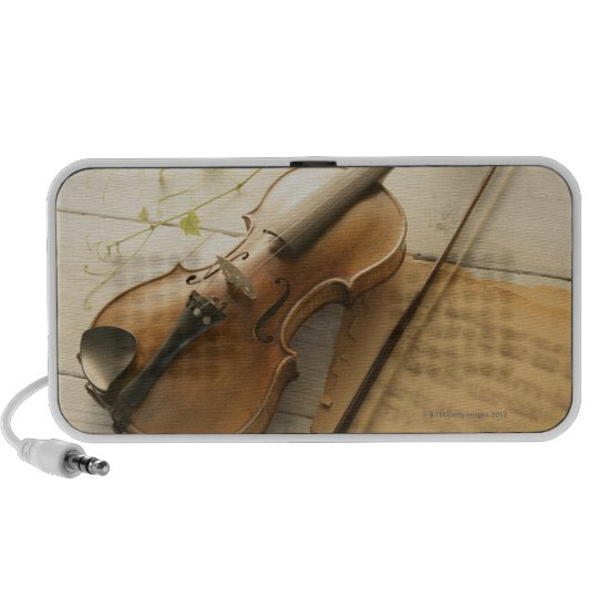 Violin and Sheet Music Portable Speaker