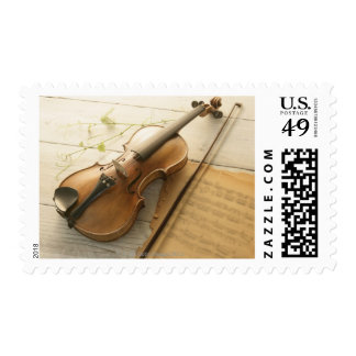 Violin and Sheet Music Stamps