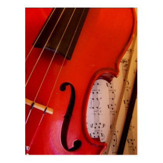 Violin and Sheet Music Postcard