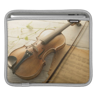 Violin and Sheet Music Sleeve For iPads