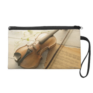 Violin and Sheet Music Wristlet Purse