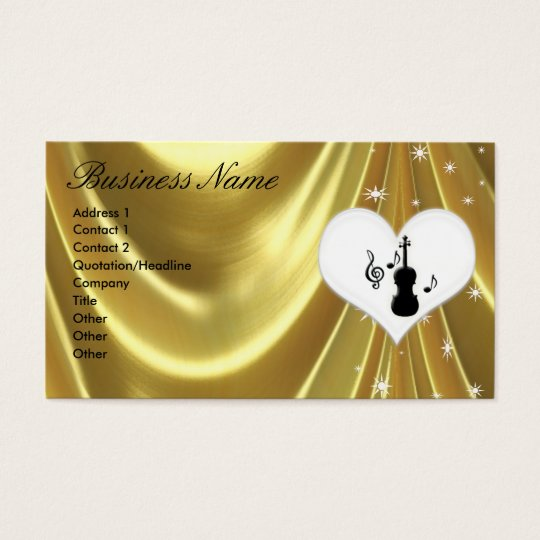 Violin and Star Business Cards