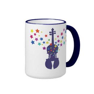Violin and Stars Coffee Mug