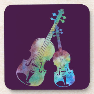 Violin and Viola Beverage Coaster