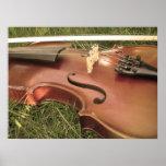 violín antiguo impresiones