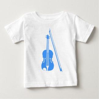 Violín - azul cielo playera