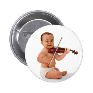 Violin Baby Pinback Button