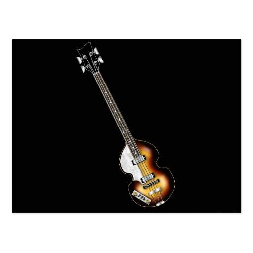 Violin Bass Guitar Post Cards