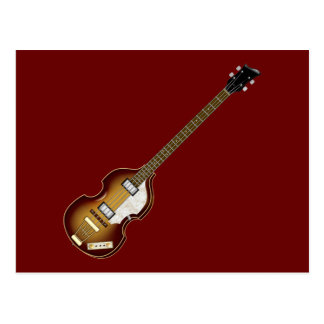 Violin Bass Postcard