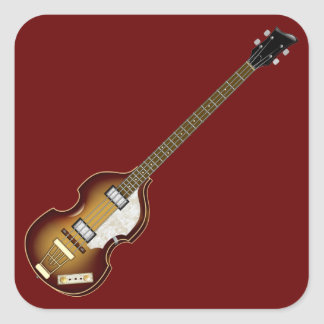 Violin Bass Square Sticker
