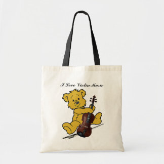 VIOLIN BEAR-BAG TOTE BAG