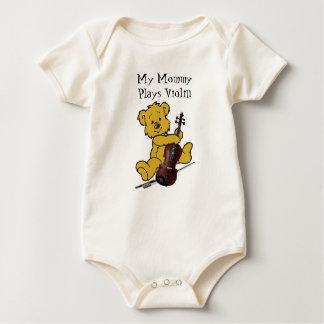 VIOLIN BEAR-T-SHIRT BABY CREEPER