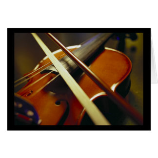 Violin & Bow Close-Up 1 Card
