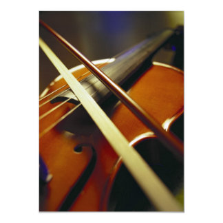 Violin & Bow Close-Up 1 Card