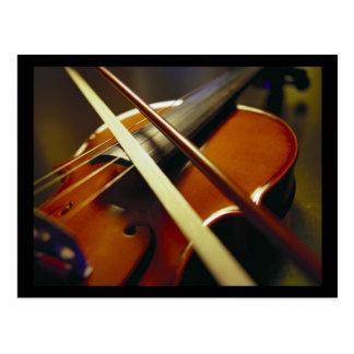 Violin & Bow Close-Up 1 Postcard