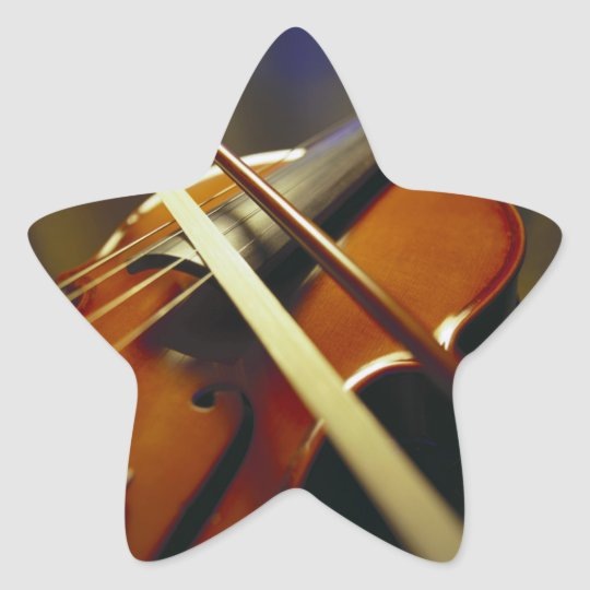 Violin & Bow Close-Up 1 Star Sticker