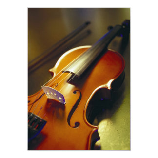Violin & Bow Close-Up 2 Card